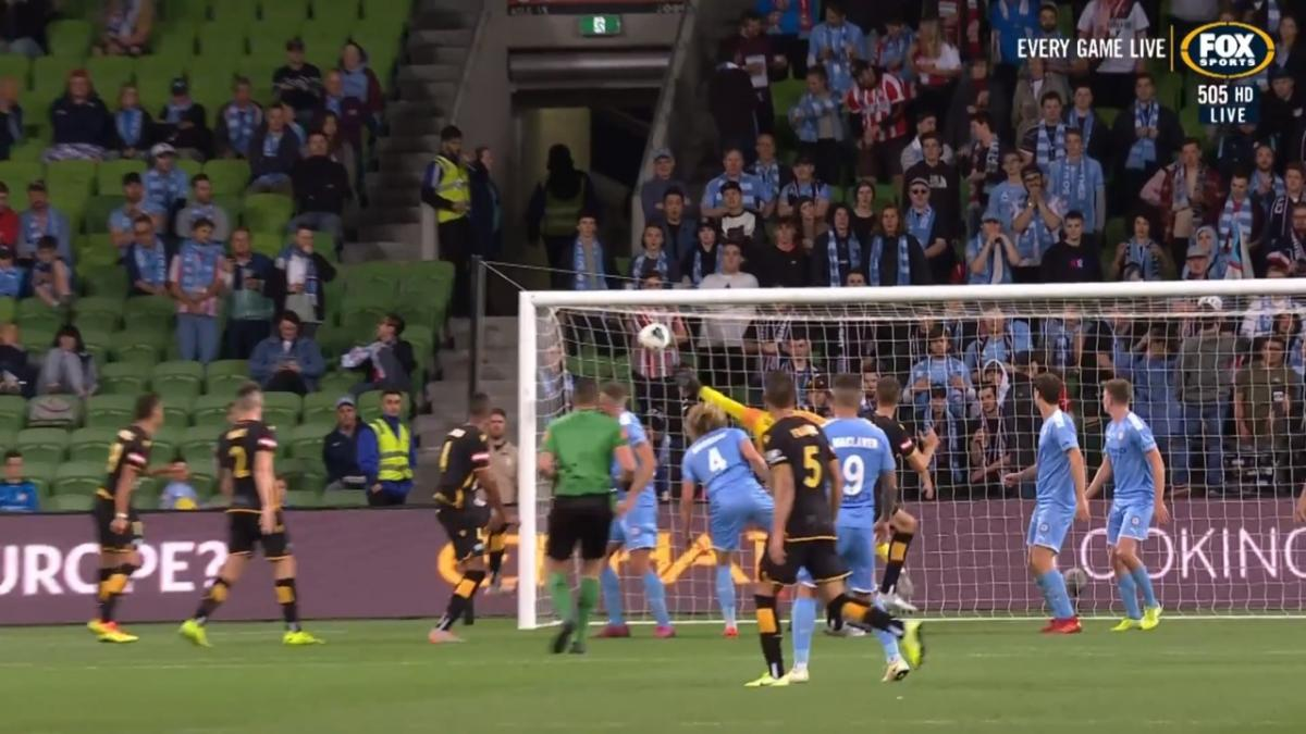 GOAL: Mrcela - A towering header, as Glory make it three