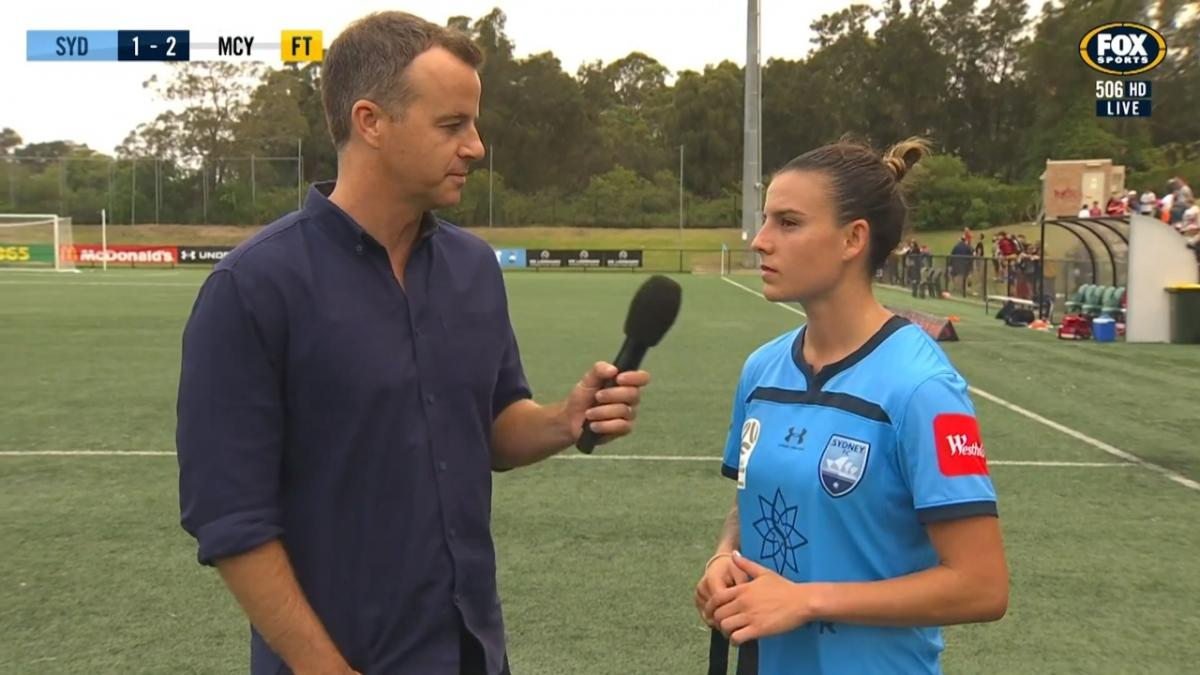 Chloe Logarzo reflects on Sydney's first loss of the season | Interview | Westfield W-League