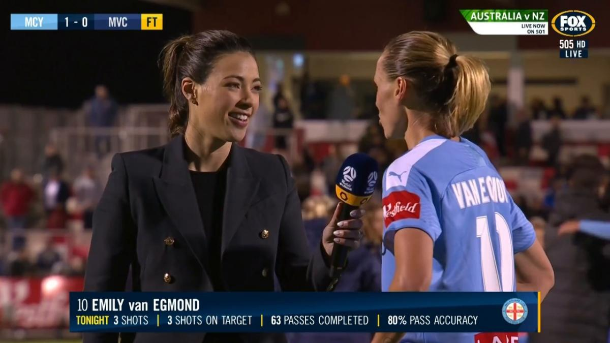 Emily van Egmond reveals she is stoked for the derby win | Interview | Westfield W-League
