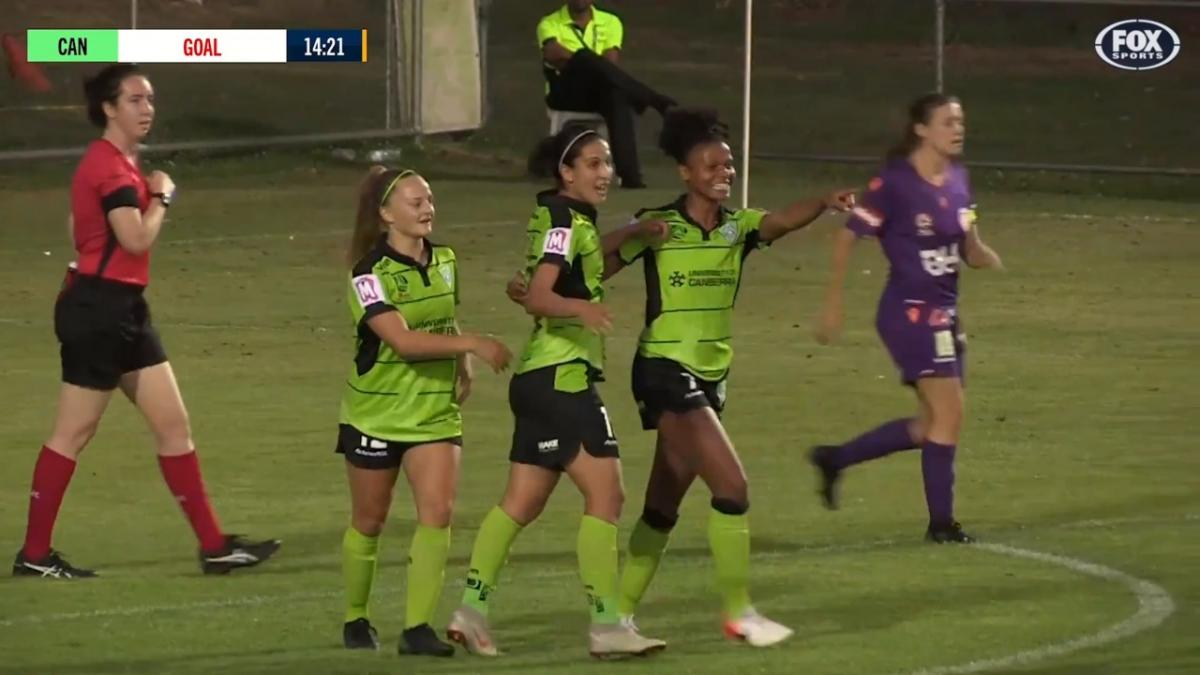 GOAL: Charley - Canberra bolt into the lead