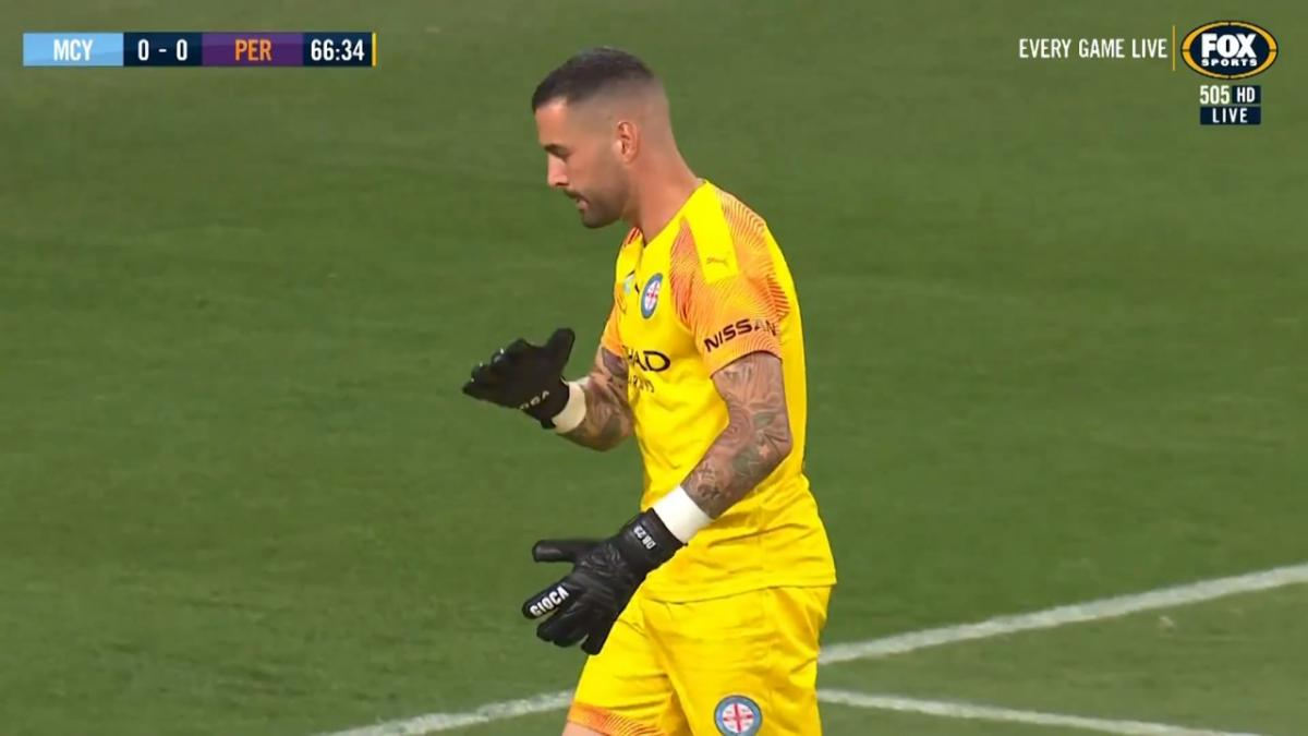 SAVE: Bouzanis - City's set of gloves confident in goal