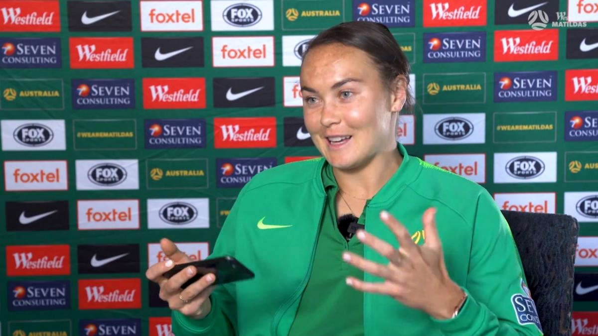 Thanks Kyah and Em! | Caitlin Foord breaks down her hat-trick against Chinese Taipei | Westfield Matildas