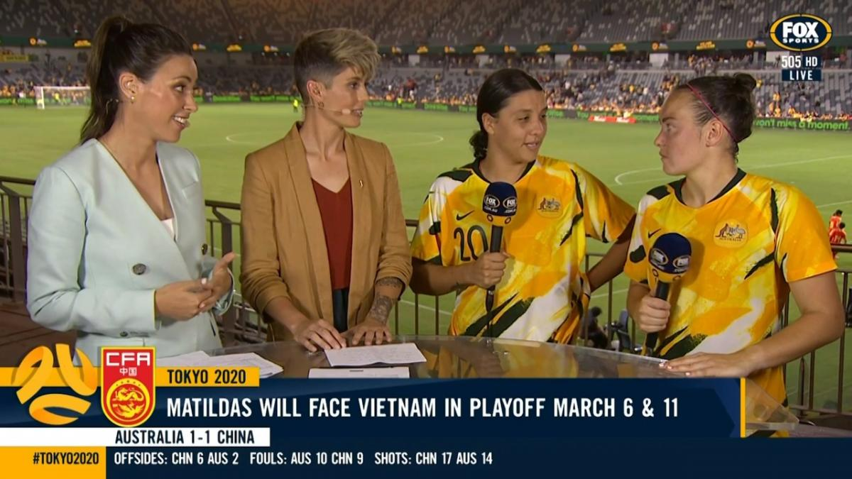 Sam Kerr and Caitlin Foord | Interview | Olympic Qualifiers