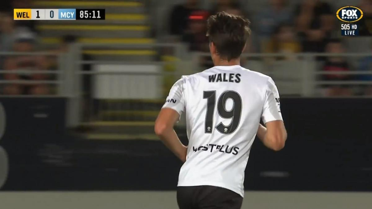 CHANCE: Wales - Long-range effort from the young substitute