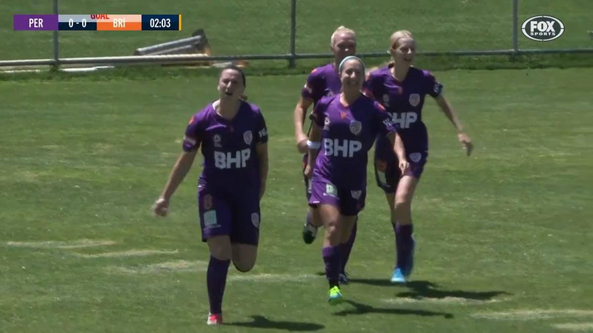 GOAL: Andrews - The American strikes first against the Roar
