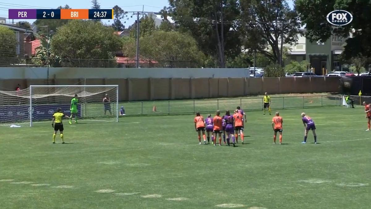 GOAL: Andrews - A penalty gives the American a brace
