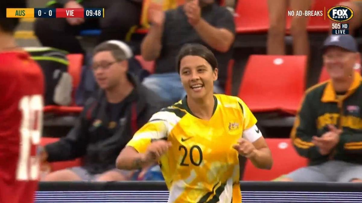 GOAL: Kerr - Matildas waste no time in opening their account