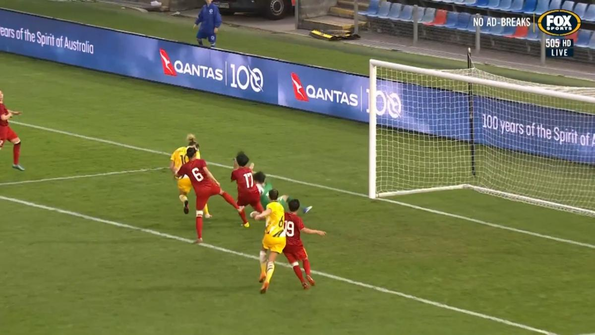 OWN GOAL: Tran - Australia running away with it