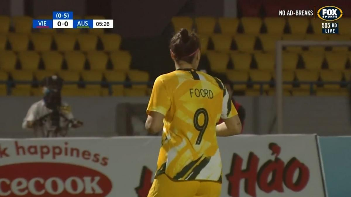 CHANCE: Kerr - Foord almost provides for Matildas opener