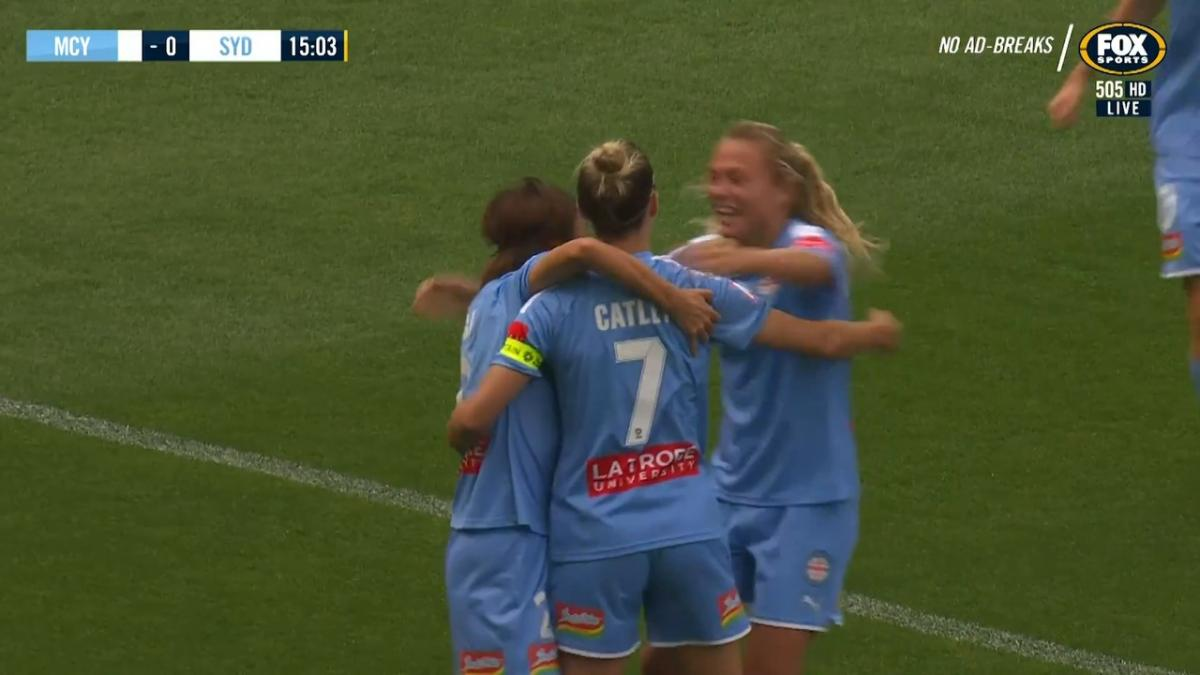 GOAL: Catley - City strike first in the Grand Final