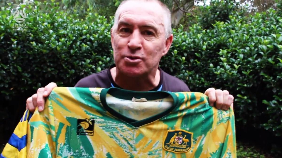 Paul Wade tells stories behind Socceroos playing memorabilia