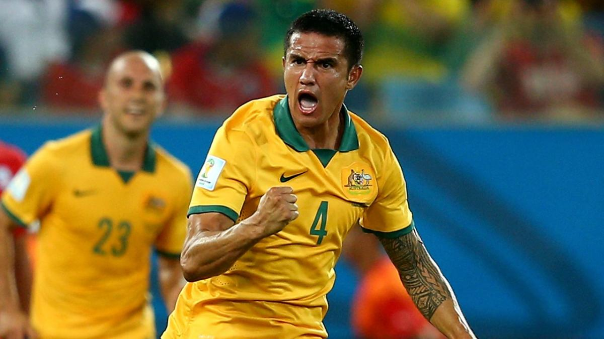 Tim Cahill scores Socceroos first goal of FIFA World Cup 2014