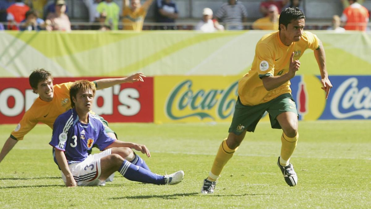 Tim Cahill scores the Socceroos' first-ever FIFA World Cup goal in 2006