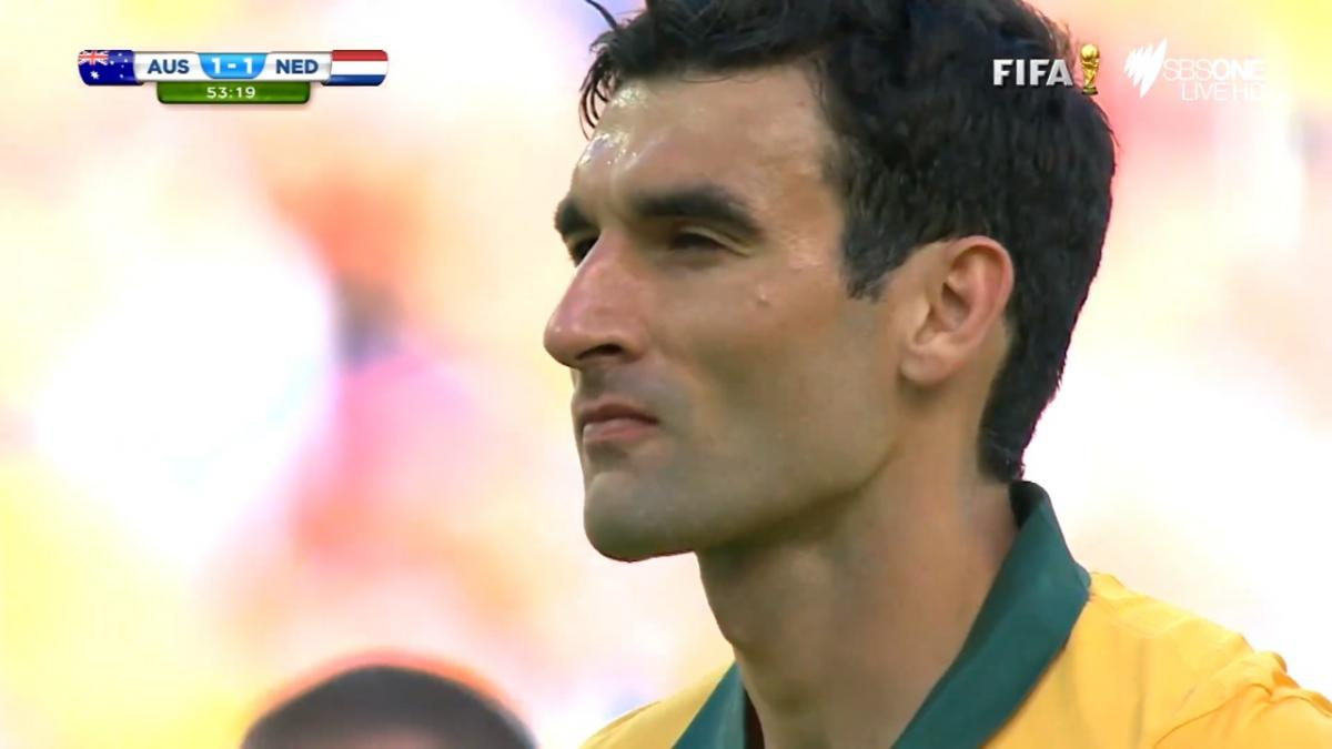 Mile Jedinak gives Socceroos lead over Netherlands during FIFA World Cup 2014