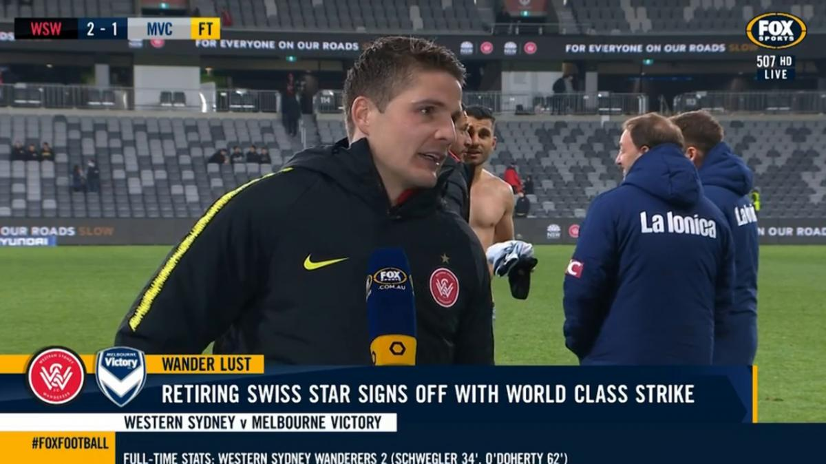 Schwegler: Thank you to all the fans | Interview | Hyundai A-League