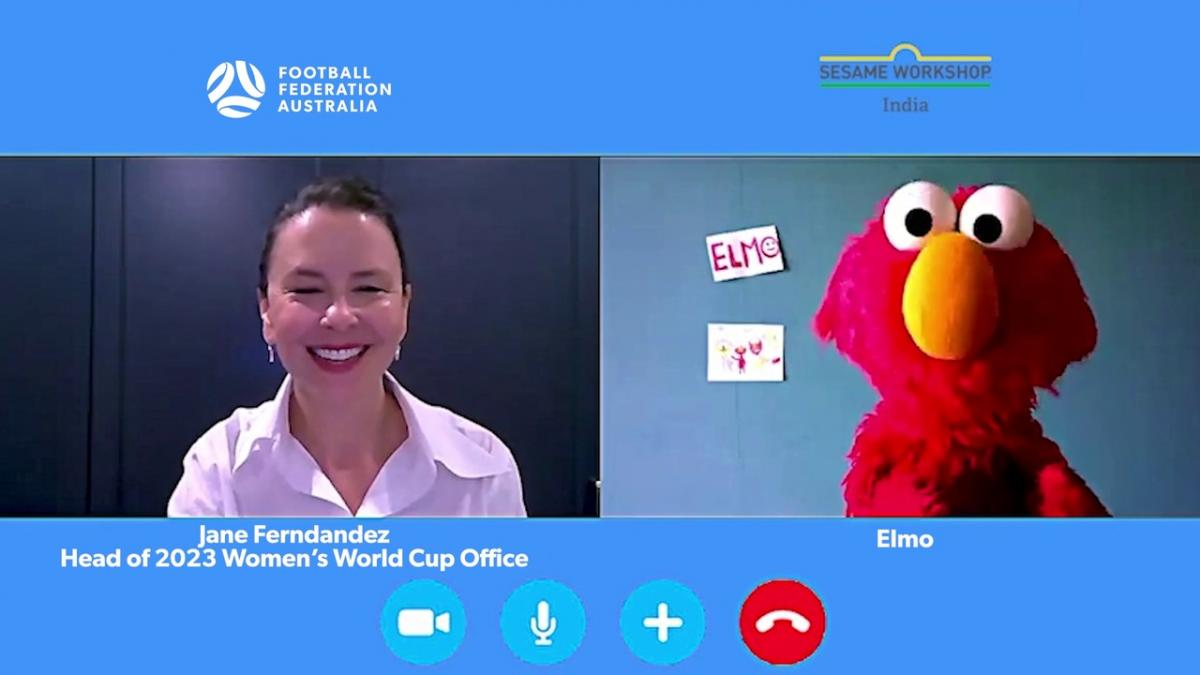 Jane Fernandez talks to Elmo about the 2023 FIFA Women's World Cup