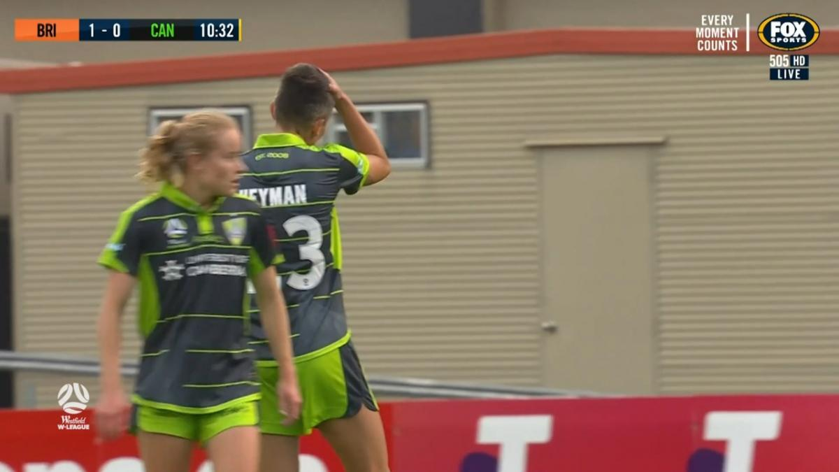 CHANCE: Heyman - Canberra's leading goalscorer in the mood again