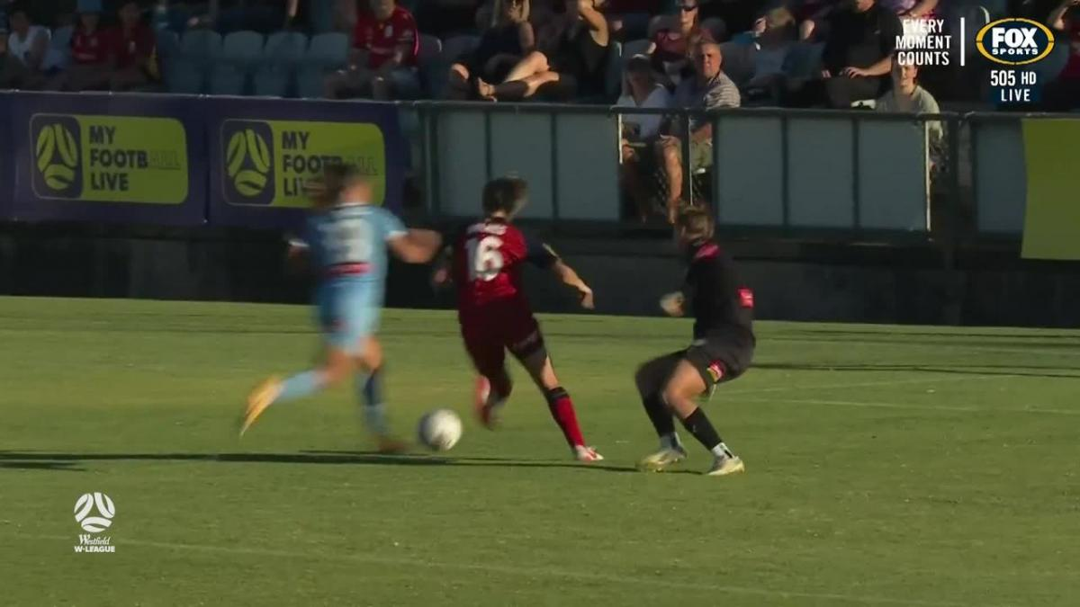 GOAL: Holmes - Lady Reds draw first blood