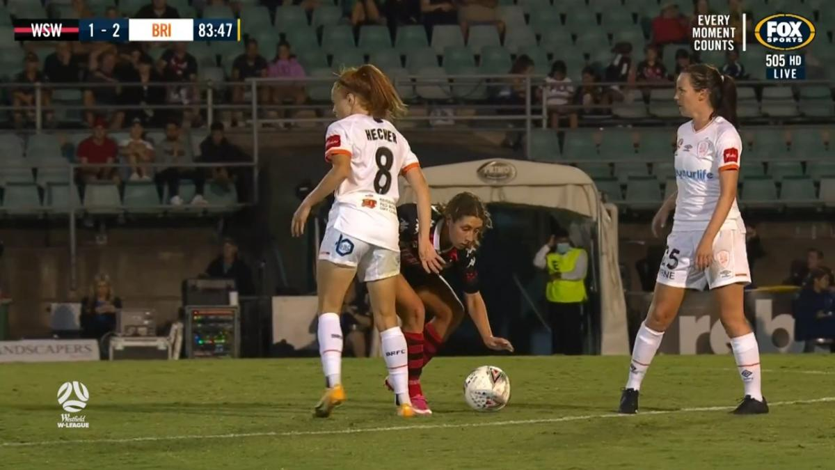CHANCE: Wanderers denied by the woodwork