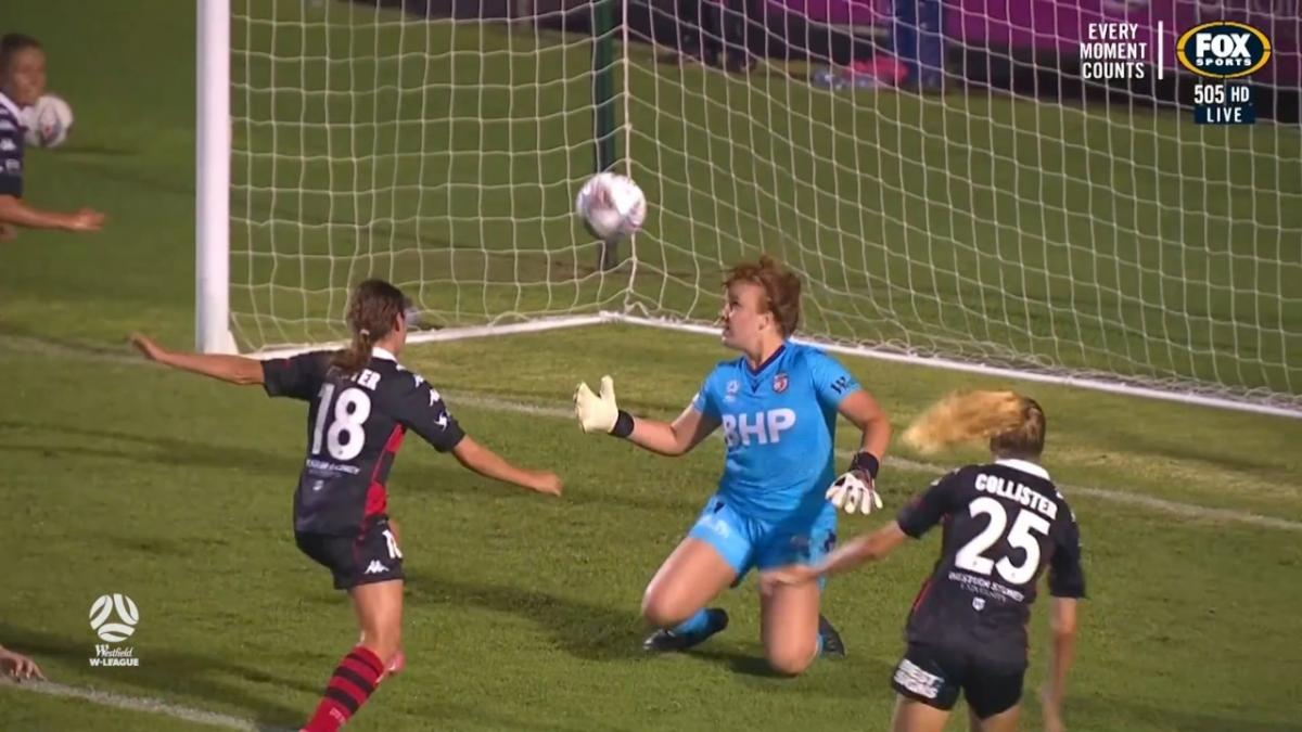 CHANCE: Hunter - Western Sydney itching for that second goal
