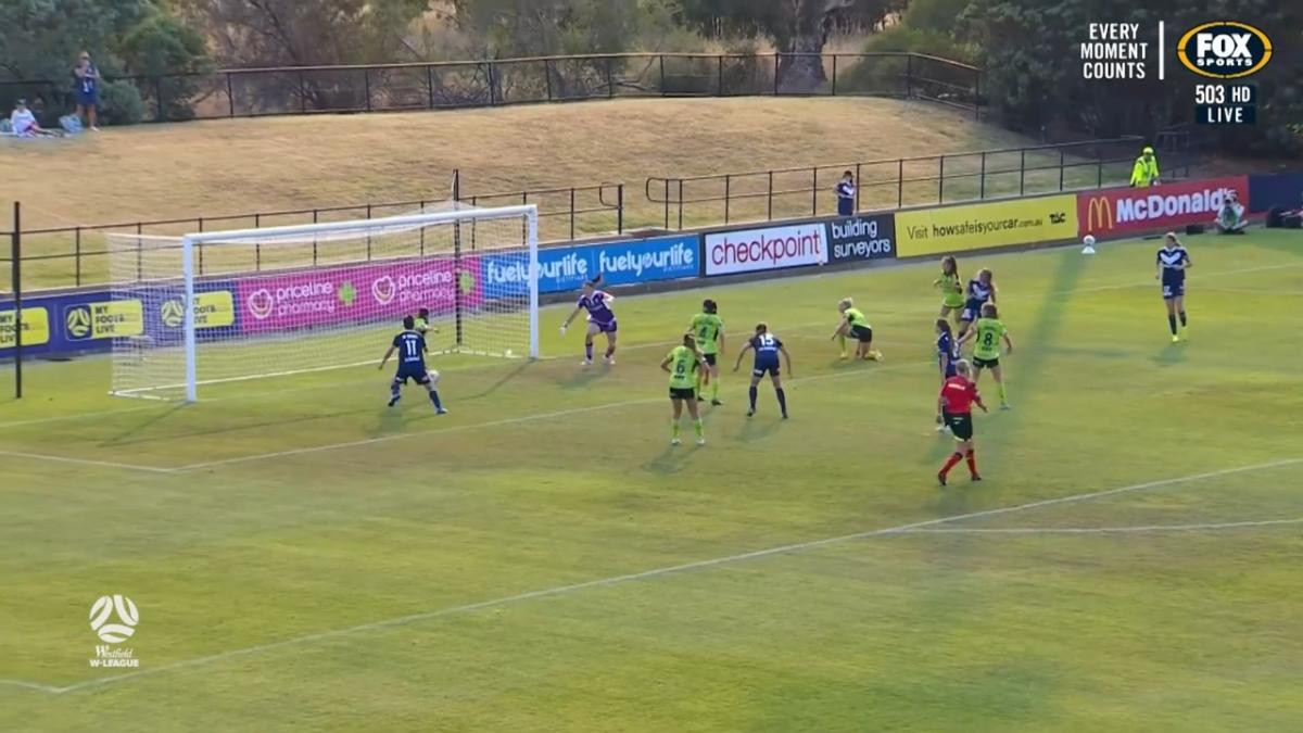 SAVE: Keeley Richards stops Annalie Longo to preserve result for Canberra United
