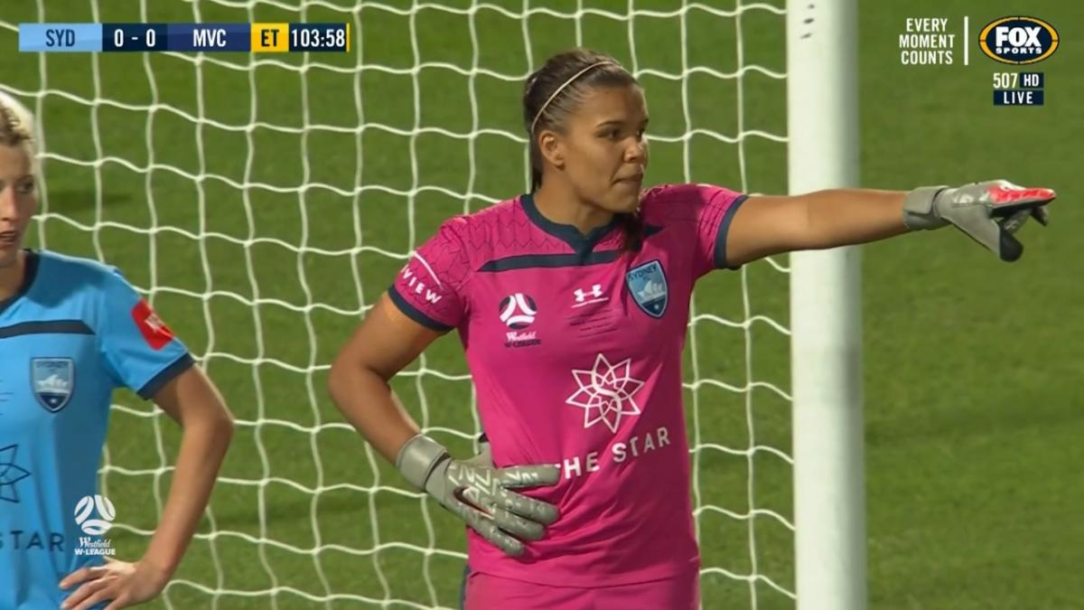 SAVE: Whyman - Sydney shot-stopper continues to be boss her goals