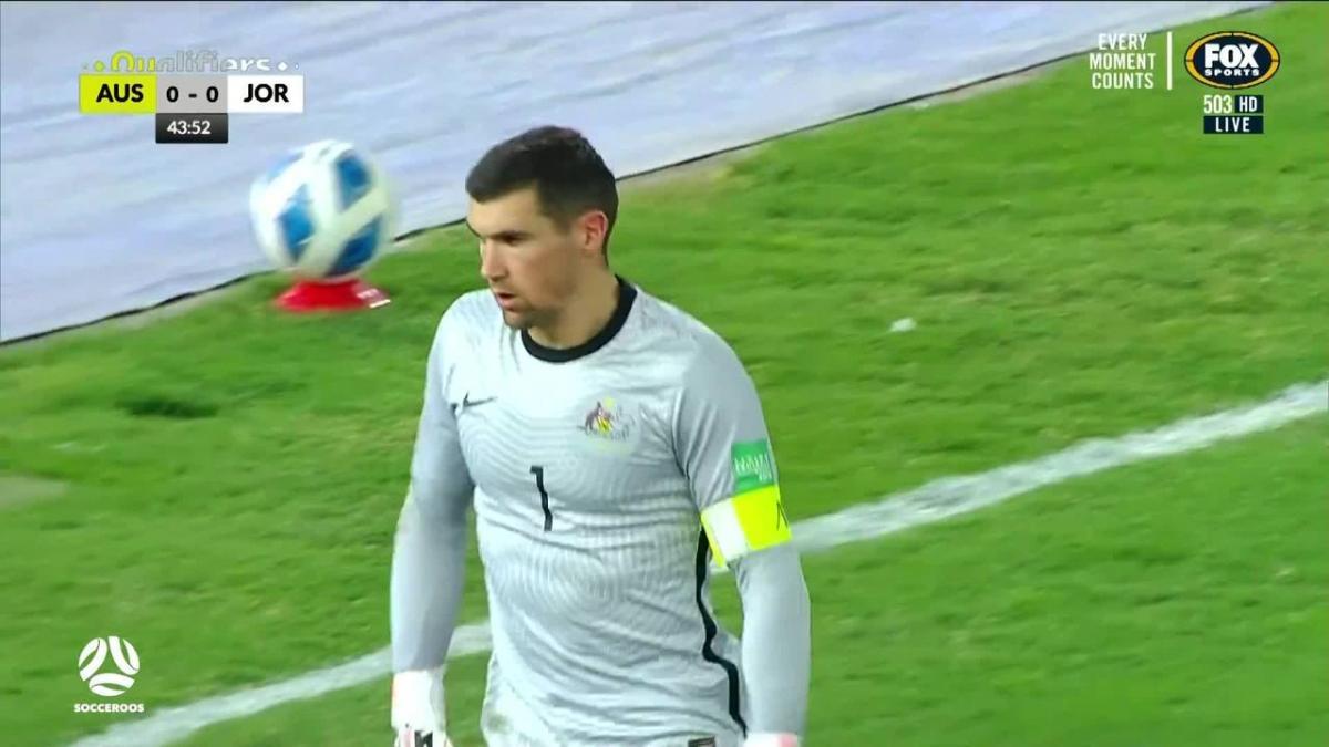 Mat Ryan pulls of save despite offside flag   Highlights   Socceroos v Jordan   FIFA World Cup qualifier