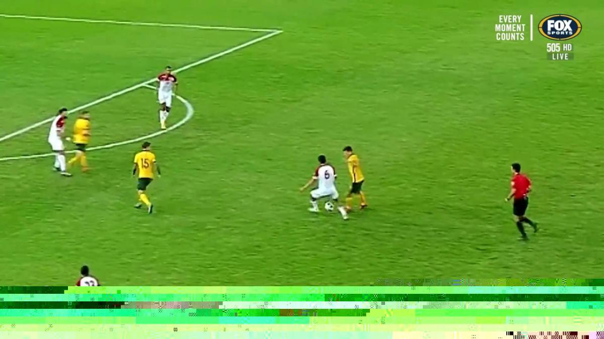 Ajdin Hrustic's cheeky nutmeg   Highlights   Socceroos v Jordan   FIFA World Cup qualifier