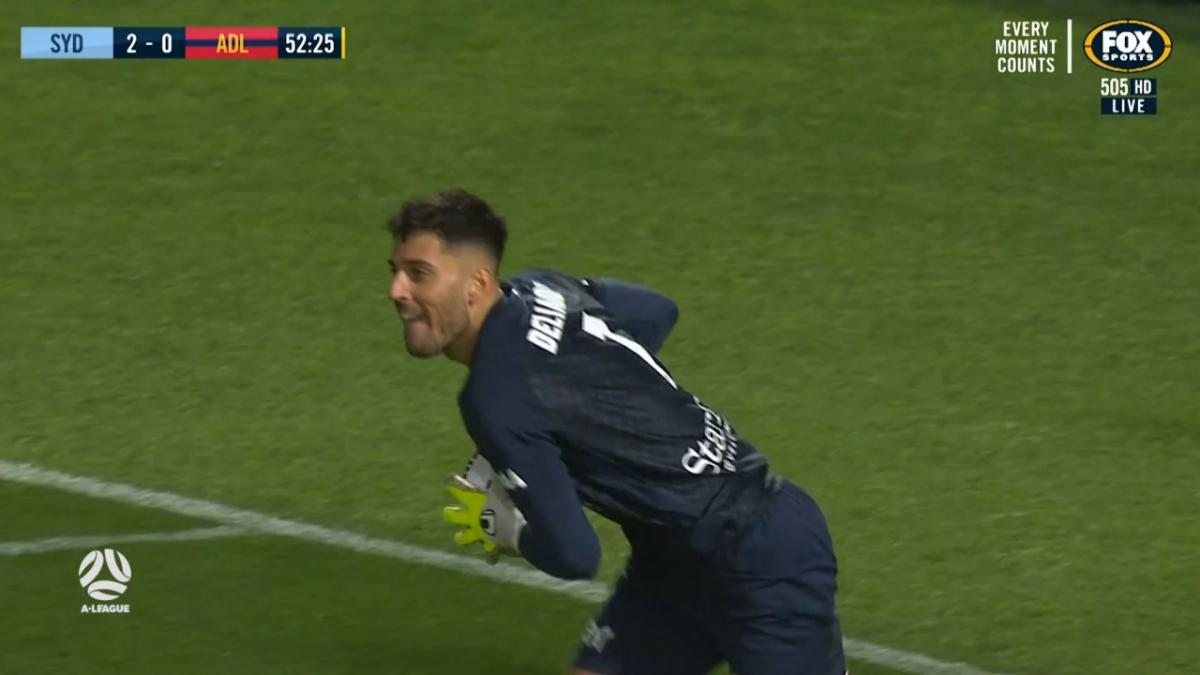 PENALTY SAVED: Delianov - Not this time for Le Fondre