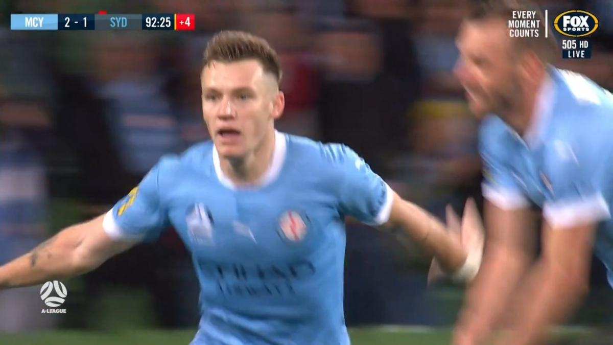 GOAL: Galloway - Melbourne City clinch the title