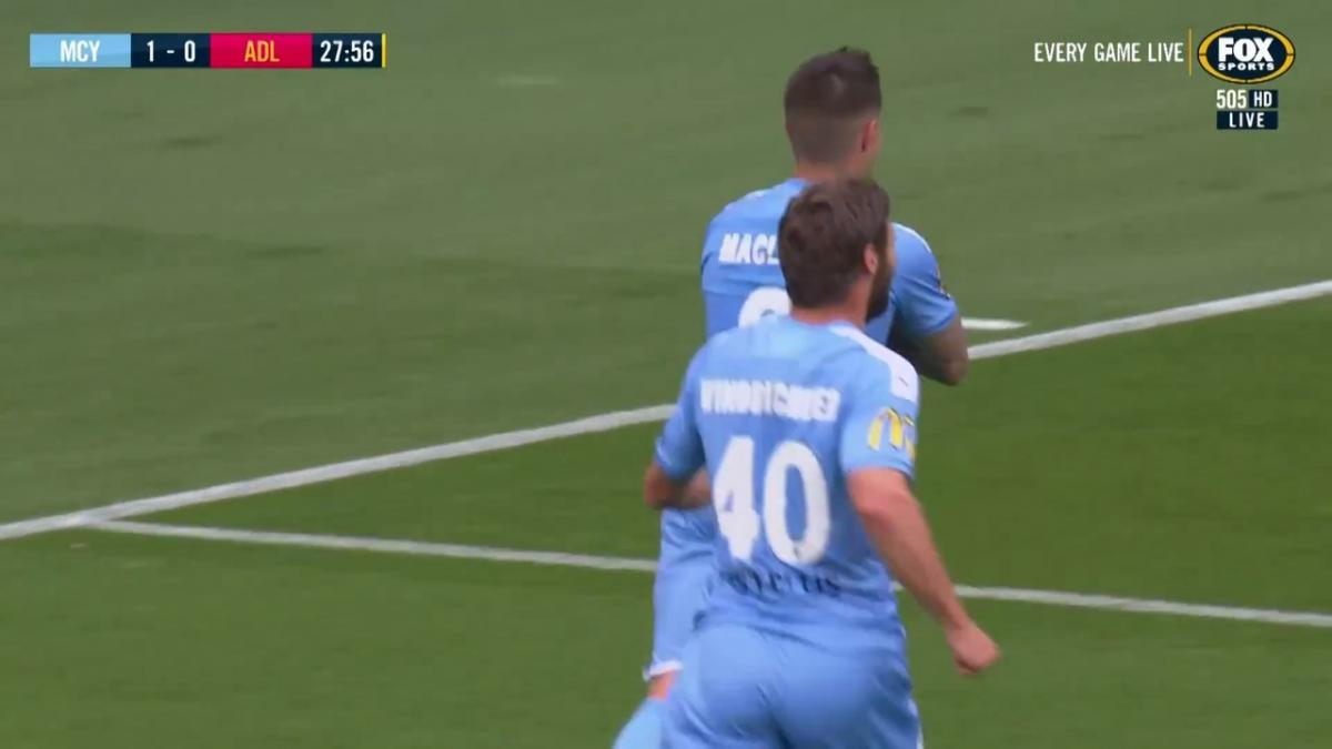 GOAL: Maclaren - The Socceroo with the quick-fire double