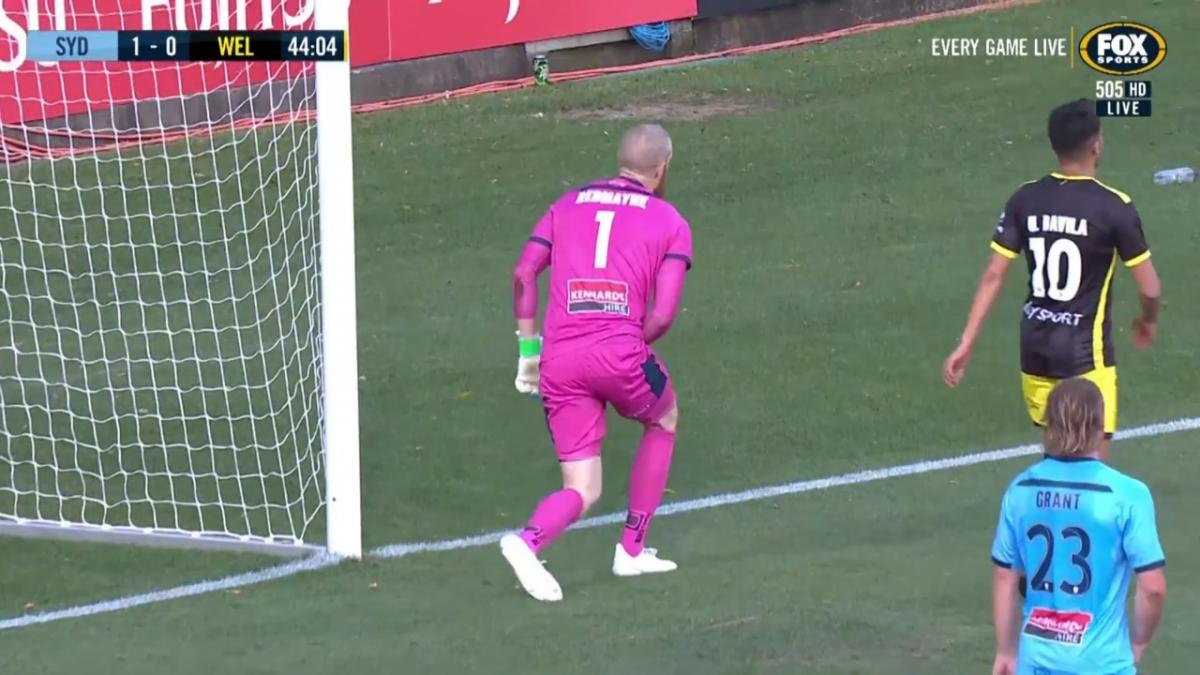 SAVE: Redmayne - Sydney shotstopper's heroics ensures a Sky Blue lead at the half