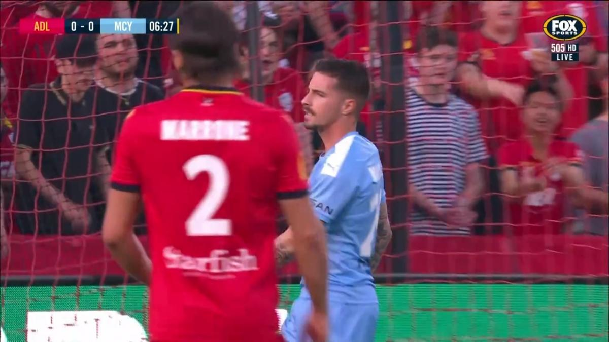 CHANCE: Maclaren - Usual suspect for City almost scores first in the FFA Cup Final