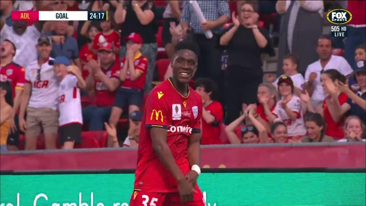GOAL: Toure - In-form youngster helps Adelaide take the lead in  the Final