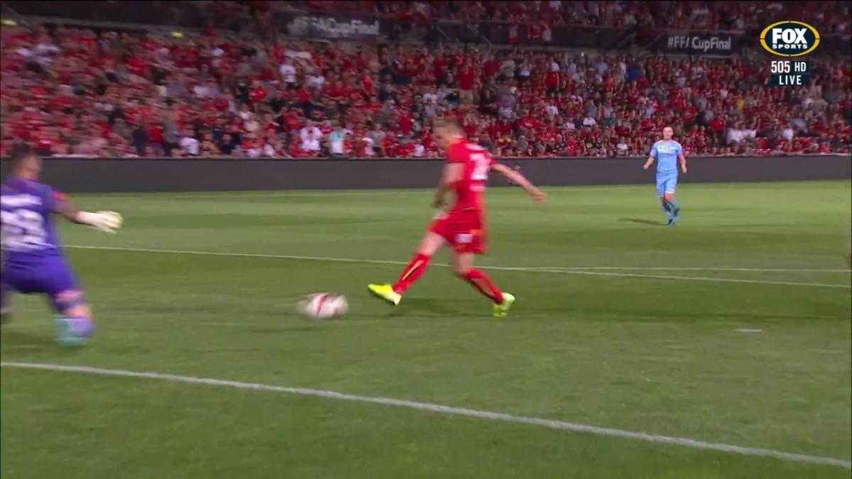 GOAL: Halloran - Adelaide double their advantage