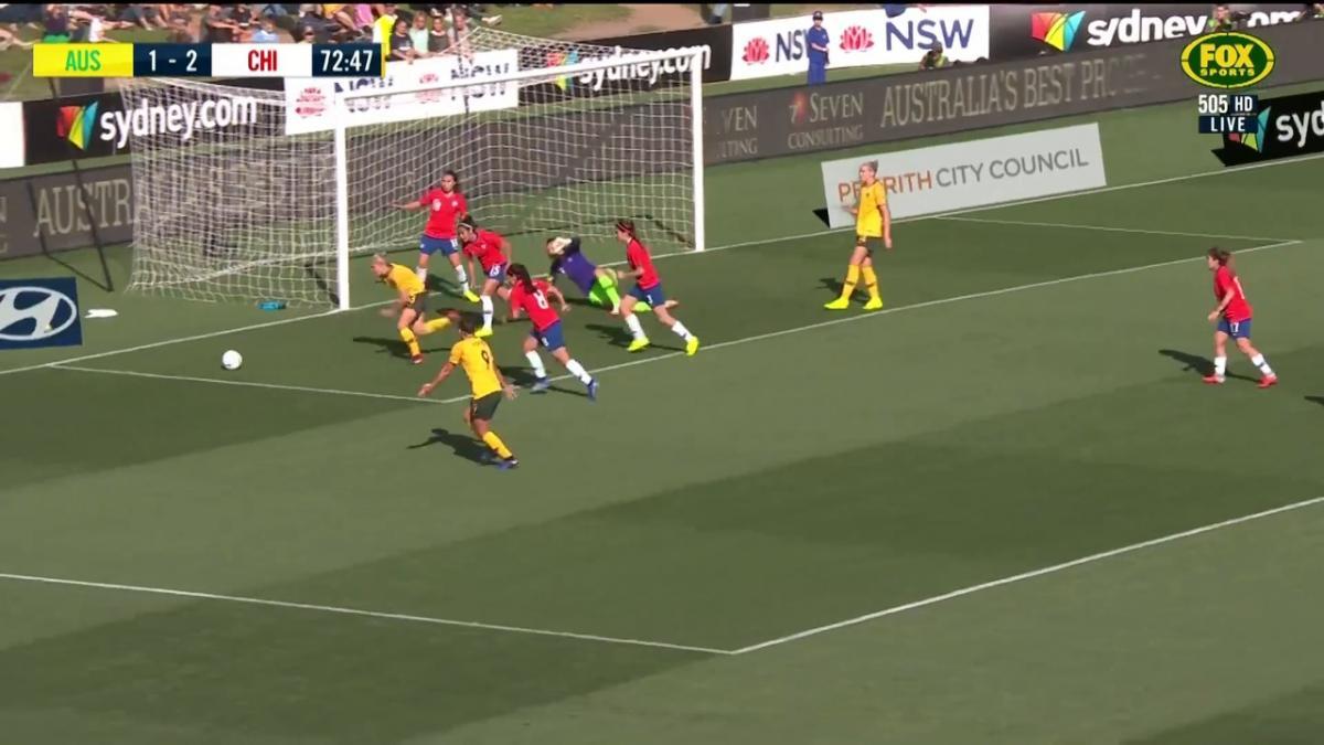 Matildas goalmouth scramble comes up short