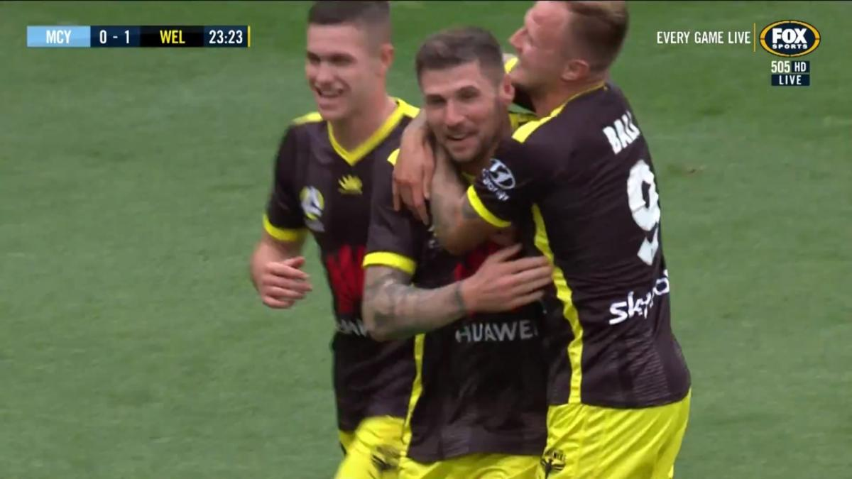 GOAL: Hooper - The experienced debutant wastes no time in scoring