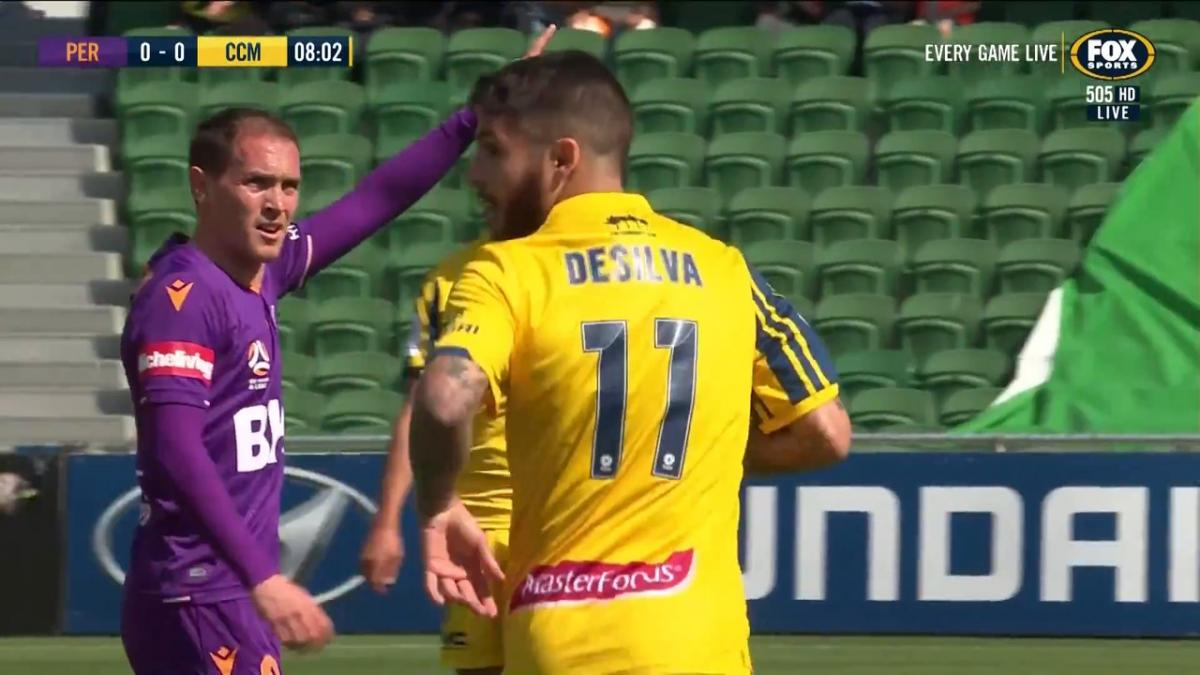 CHANCE: De Silva - Central Coast looking for an early goal