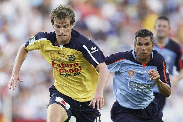 Alex Wilkinson and Steve Corica in the 2006 Hyundai A-League Grand Final