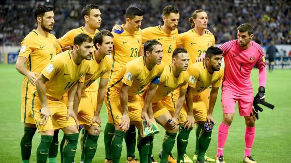 Socceroos starting XI.