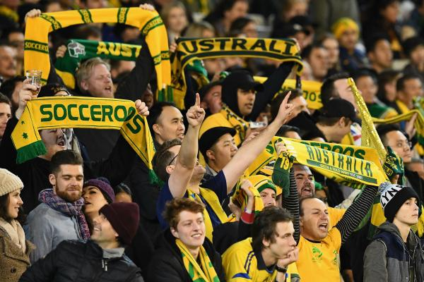 Fans show their support for the Caltex Socceroos.