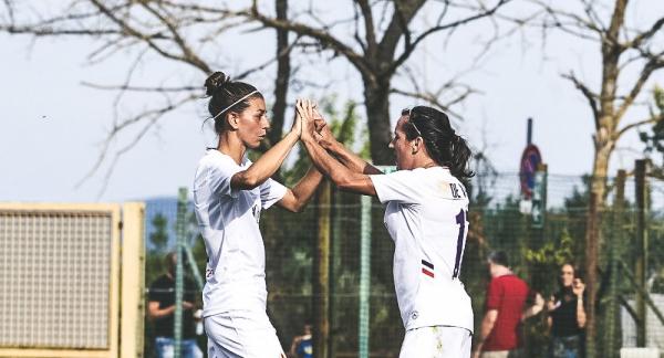 Lisa De Vanna scored her maiden goal for Fiorentina on Sunday evening