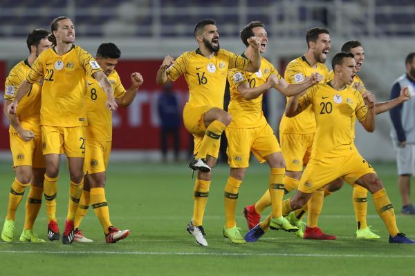 Caltex Socceroos celebrate