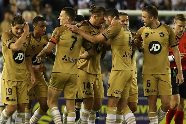 Wanderers celebrate a goal