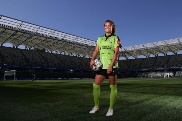 Canberra United star Katie Stengel
