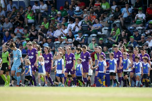 There was a big crowd on hand in the nation's capital for the clash between Canberra United and Perth Glory