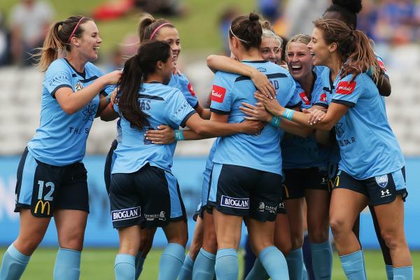 Sydney FC celebrate a goal