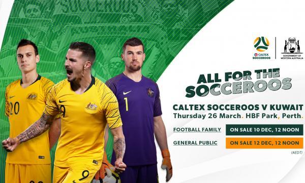 Socceroos v Kuwait banner