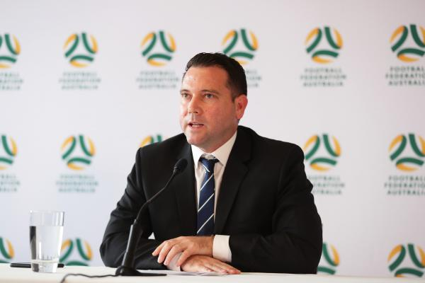 FFA CEO James Johnson speaks to the media on Tuesday