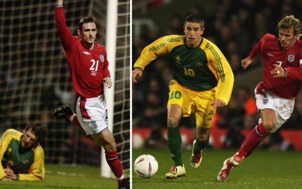 Francis Jeffers England Socceroos 2003 Australia